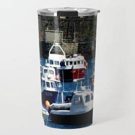 Boats in the Harbour Travel Mug