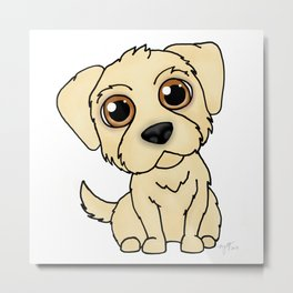 Golden Retreiver Dog Metal Print