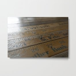 Ruler Desk Metal Print
