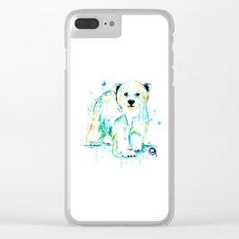 Polar Bear Baby Clear iPhone Case