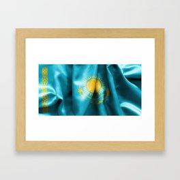Kazakhstan Flag Framed Art Print