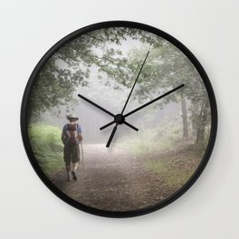 Camino to Santiago de Compostela Wall Clock