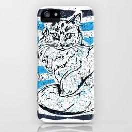 Cat stripes iPhone Case