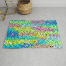 A pile of colorful joy Rug