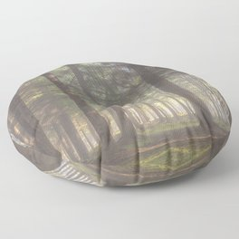 Mistycal autumn in the forest - North Kessock, The Highlands, Scotland Floor Pillow