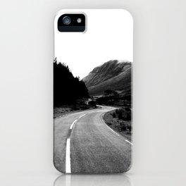 Road through the Glen - B/W iPhone Case
