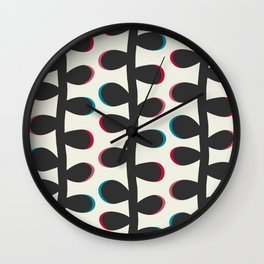 Like a Leaf [black] Wall Clock
