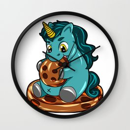 Happy Chubby Unicorn full figured cookie BBW Wall Clock