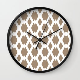 Daffy Lattice Cafe Latte Wall Clock