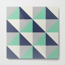 Bluemuda Triangles Metal Print