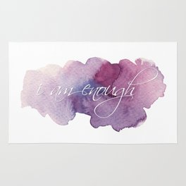I am Enough - Purple and Blue Rug