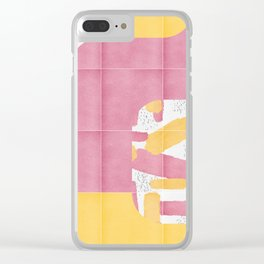 Bold Painted Tiles 01 #society6 #midmod Clear iPhone Case