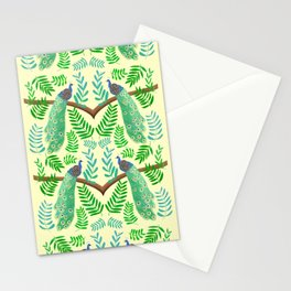 Peacock Paradise in Lemon  Stationery Cards