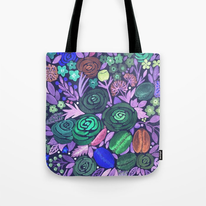 Watercolor . French cake in the colors . Tote Bag