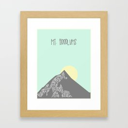 Mt. Hoodlums Framed Art Print