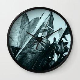 Tropical Modern - Palm Leaves Wall Clock