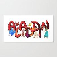 aladdin Canvas Prints featuring Aladdin  by Mix-Master