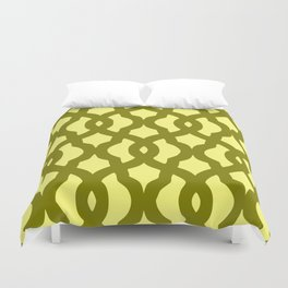 Grille No. 2 -- Yellow Duvet Cover