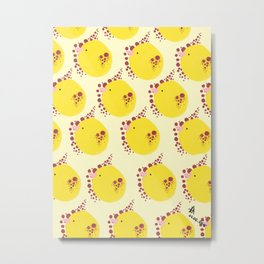 Lemon Birdies Metal Print
