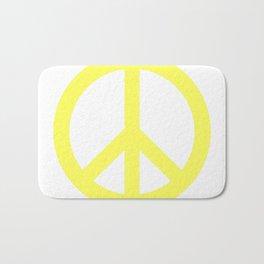 Peace (Light Yellow & White) Bath Mat
