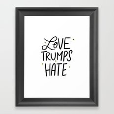 Love Trumps Hate Framed Art Print