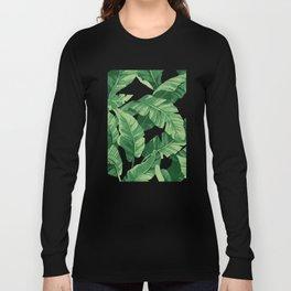 Tropical banana leaves IV Long Sleeve T-shirt