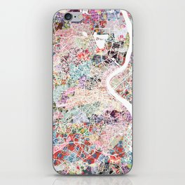 Bordeaux map, france iPhone Skin