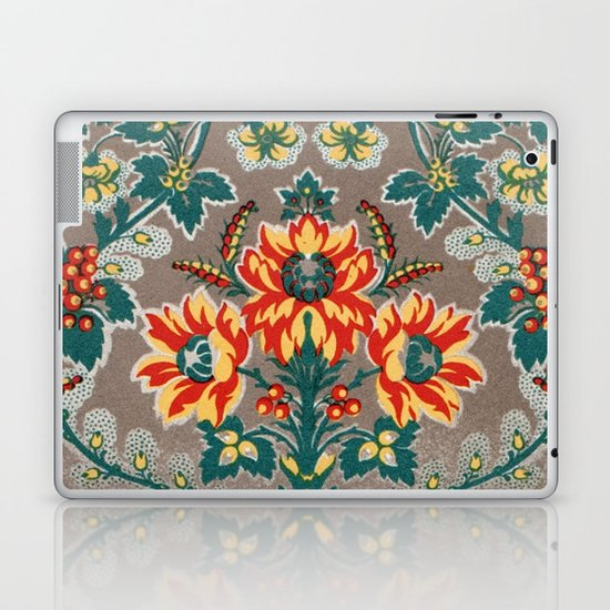Vintage Floral Pattern 18th Century Decorative Ornate Fancy Laptop & iPad Skin