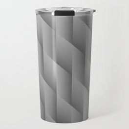 Gradient Gray Diamonds Geometric Shapes Travel Mug