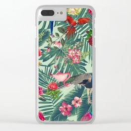 tropical fun nature Clear iPhone Case