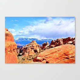 Two Worlds Collide Canvas Print