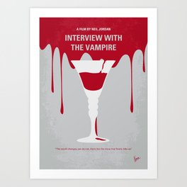 No1208 My Interview with the Vampire minimal movie poster Art Print