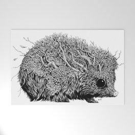 Leaf Hedgehog Welcome Mat