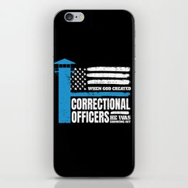 Correctional Officers American Christian iPhone Skin