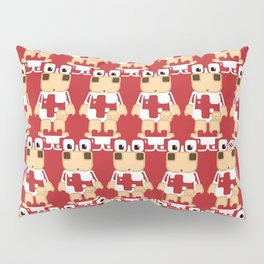 Super cute cartoon cow in red - a moo-st have design for  cow enthusiasts! Pillow Sham