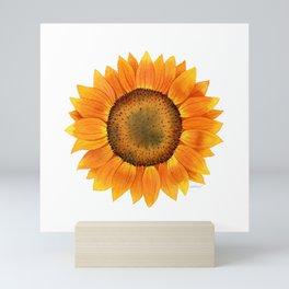 Sunflower Watercolor Mini Art Print