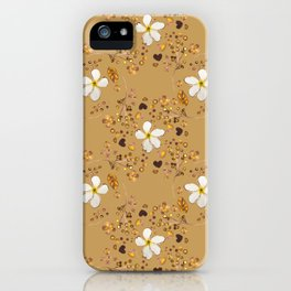 Tropical Chocolate Pattern iPhone Case
