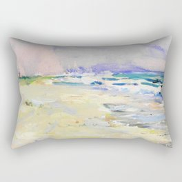 oil sea painting Rectangular Pillow
