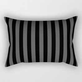 Large Two Tone Black Cabana Tent Stripe Rectangular Pillow