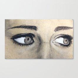 Charcoal drawing Canvas Print