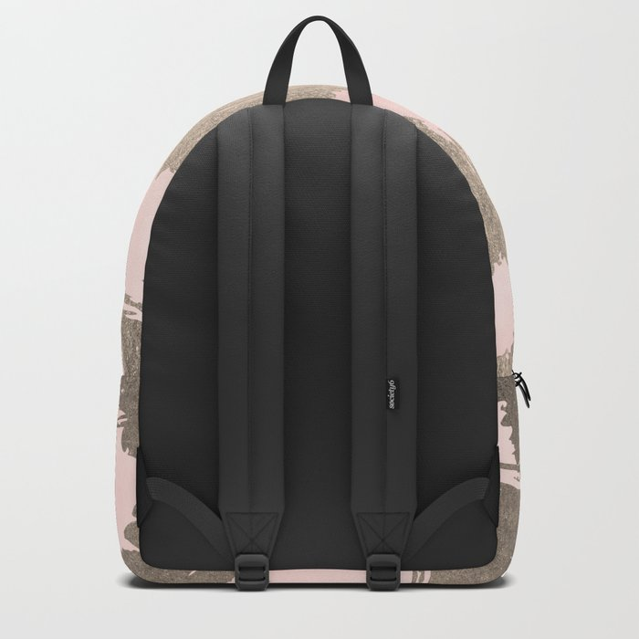 Modern Pink + Gold Backpack