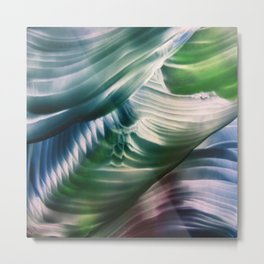 Green, Teal, Blue Abstract Metal Print