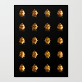 Budhha Golden Head by Lika Ramati Canvas Print