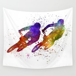 BMX Race Wall Tapestry