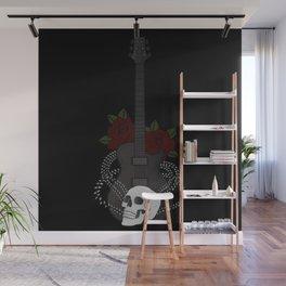 Skull and Guitar Wall Mural