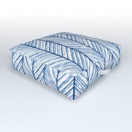 Shibori Herringbone Pattern Outdoor Floor Cushion