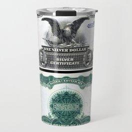 Vintage 1899 Eagle US $1 Dollar Bill Silver Certificate Wall Art Travel Mug
