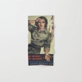 Vintage poster - More Nurses are Needed Hand & Bath Towel