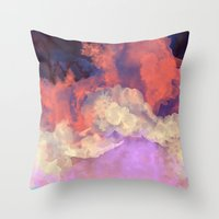 sun Throw Pillows featuring Into The Sun by Galaxy Eyes