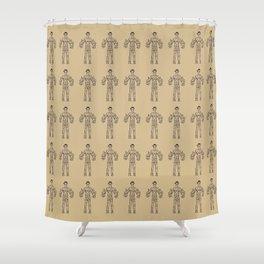 Ancient Frankestein Mythical Mythology Color Pattern Shower Curtain